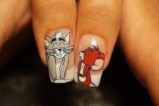 tom n jerry nail design